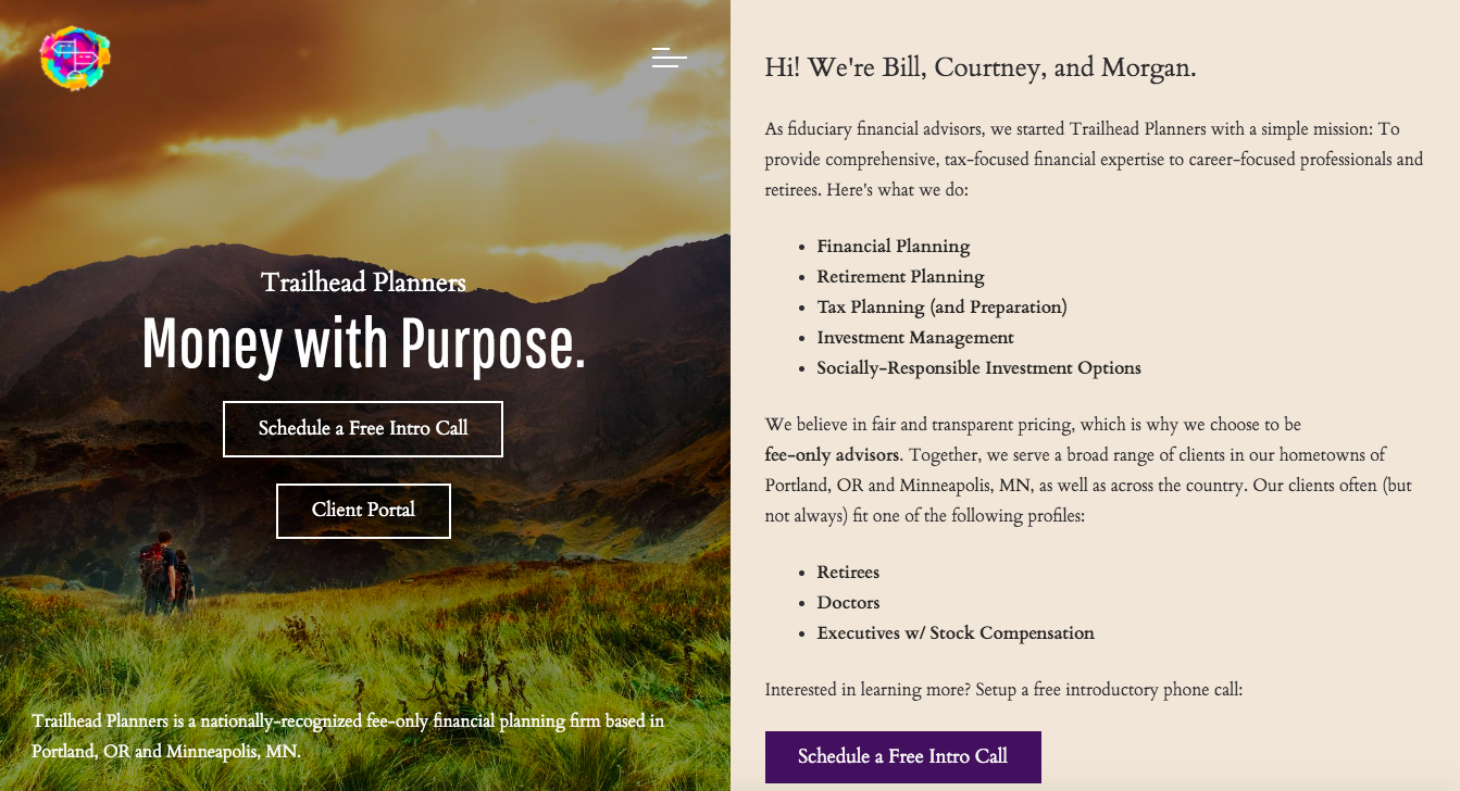 Trailhead Planners homepage