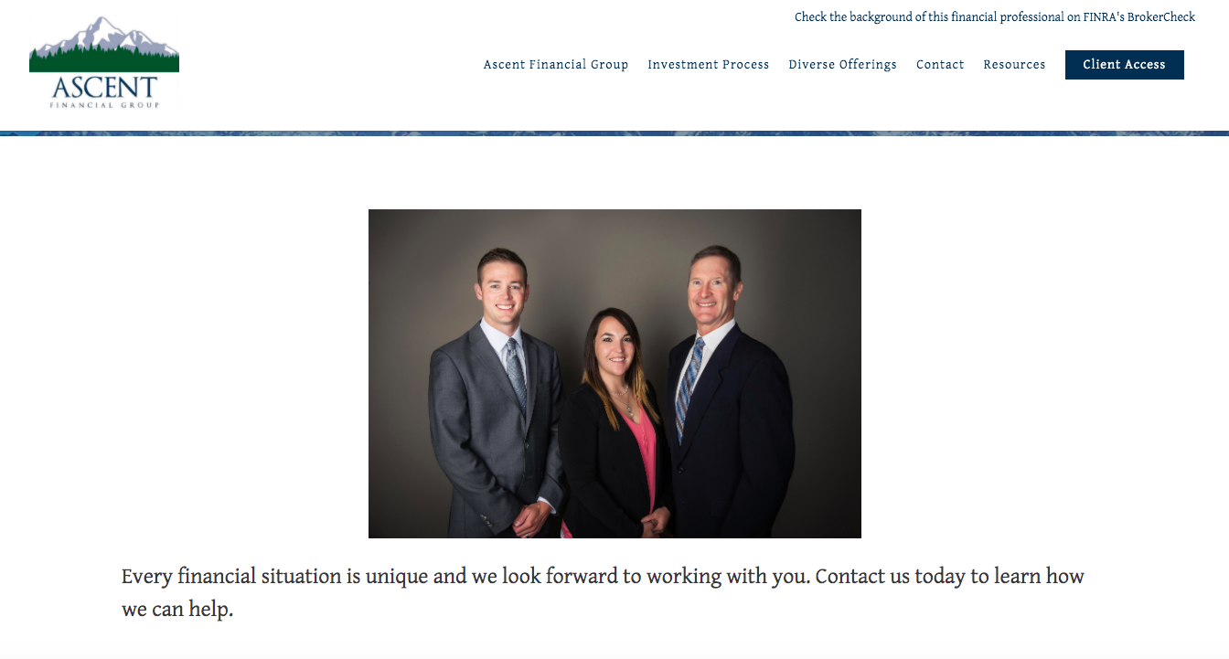 Ascent Financial Group contact