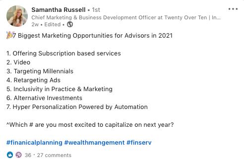 LinkedIn marketing opportunities