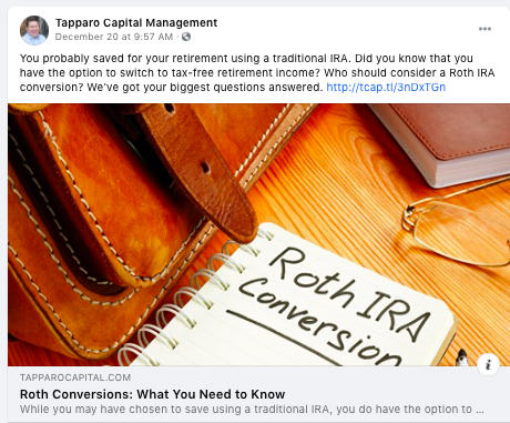 Tapparo Capital Management Facebook