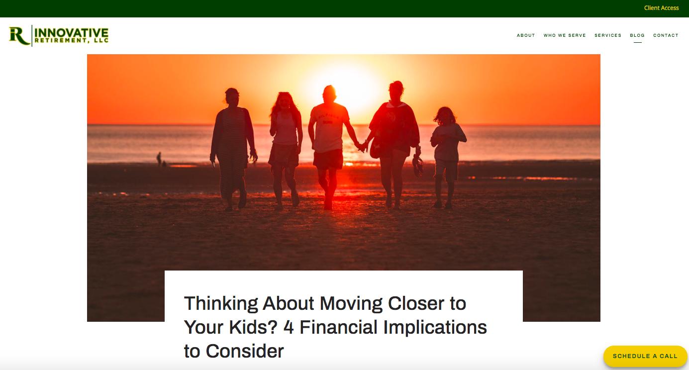 Innovative Retirement blog