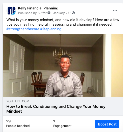 Kelly Financial Planning Facebook