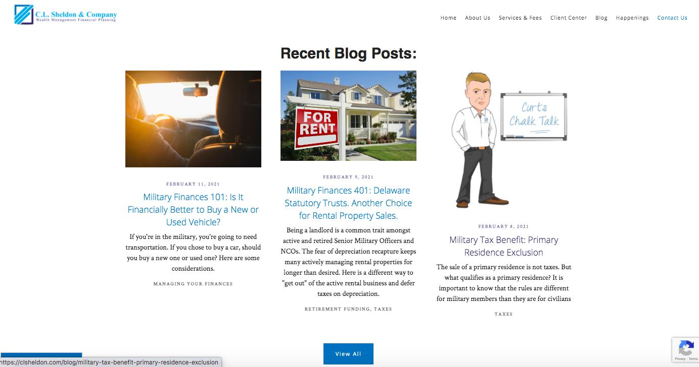 C.L. Sheldon and Company recent blog posts