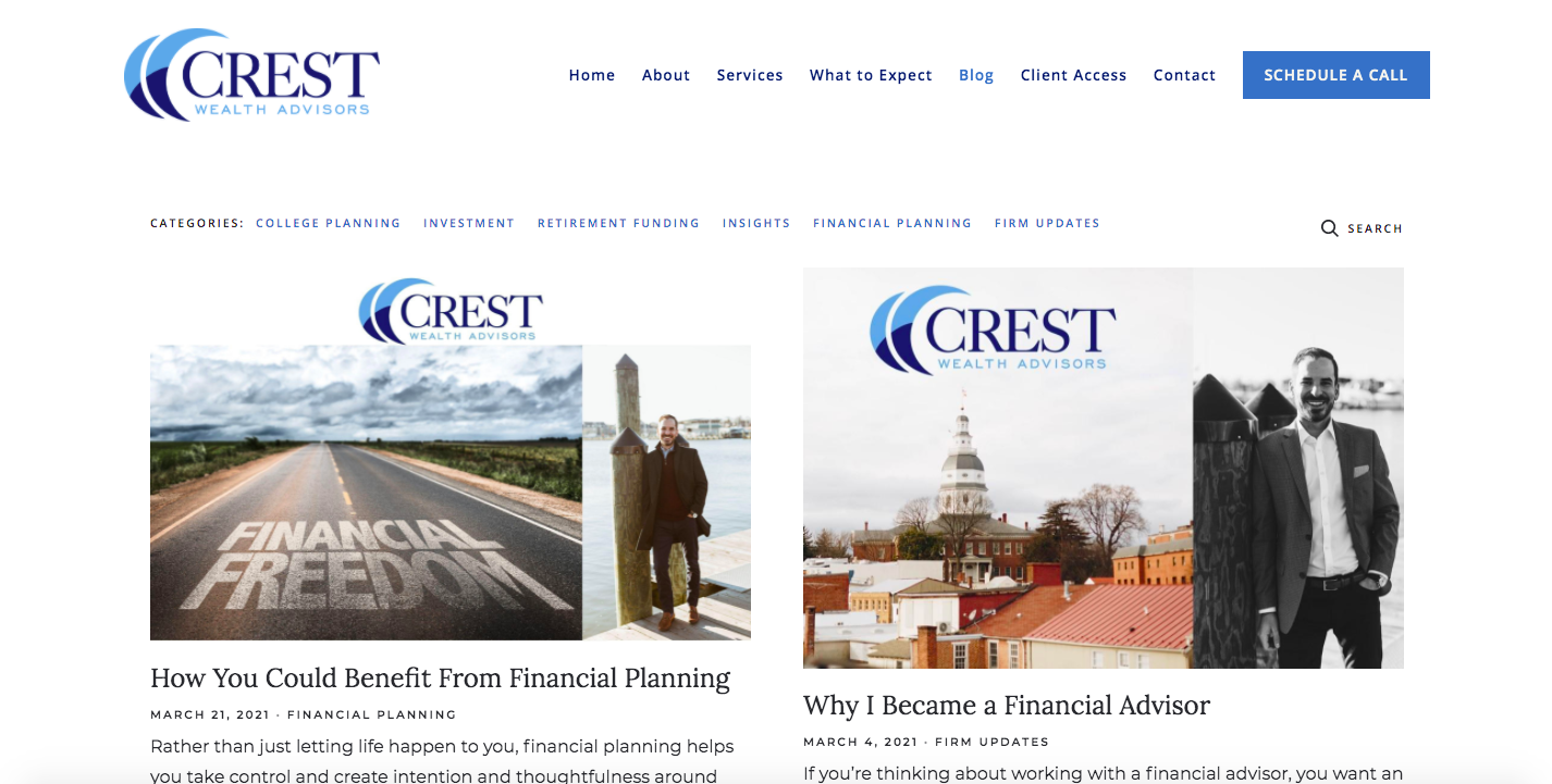 Crest Wealth Advisors insights