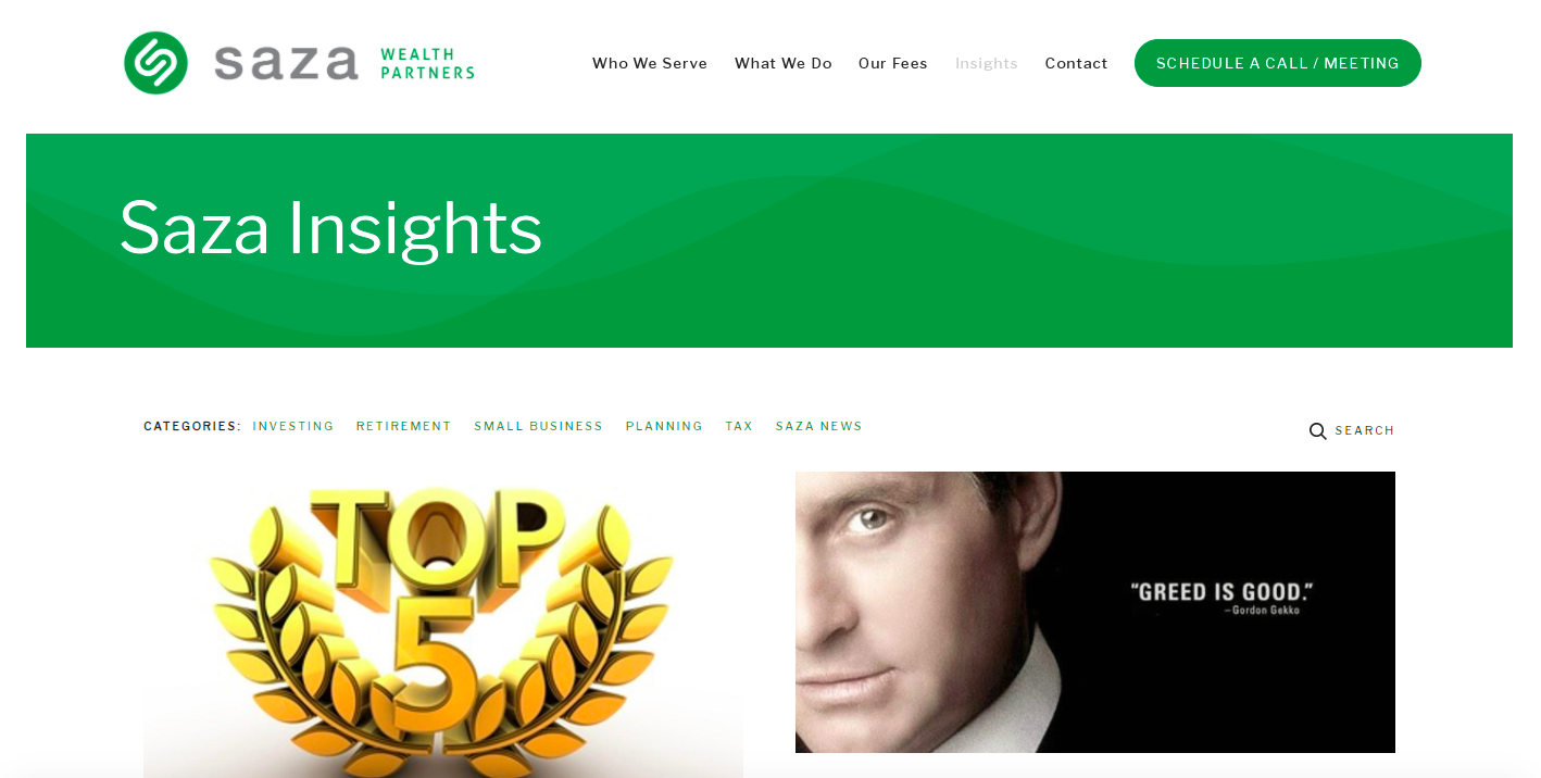 Saza Wealth Partners blog