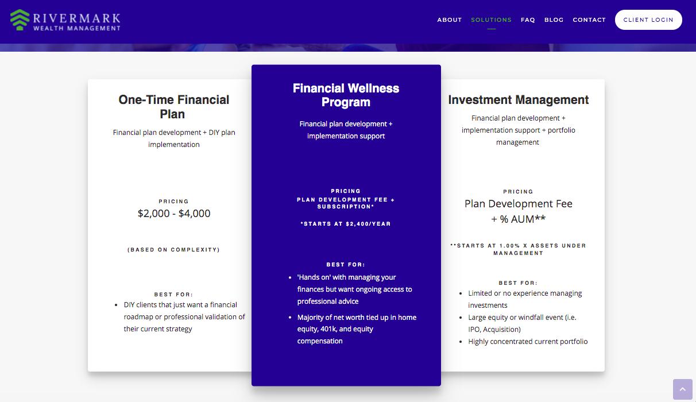 Rivermark Wealth Management fees
