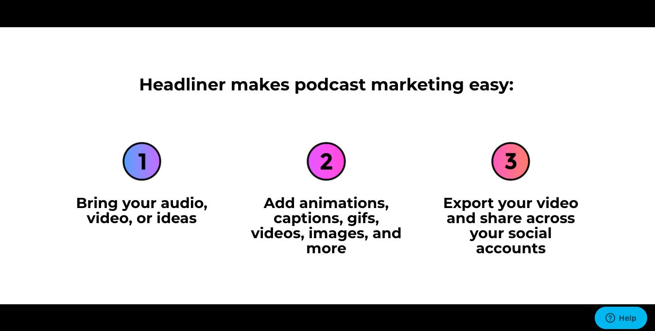 Headliner app