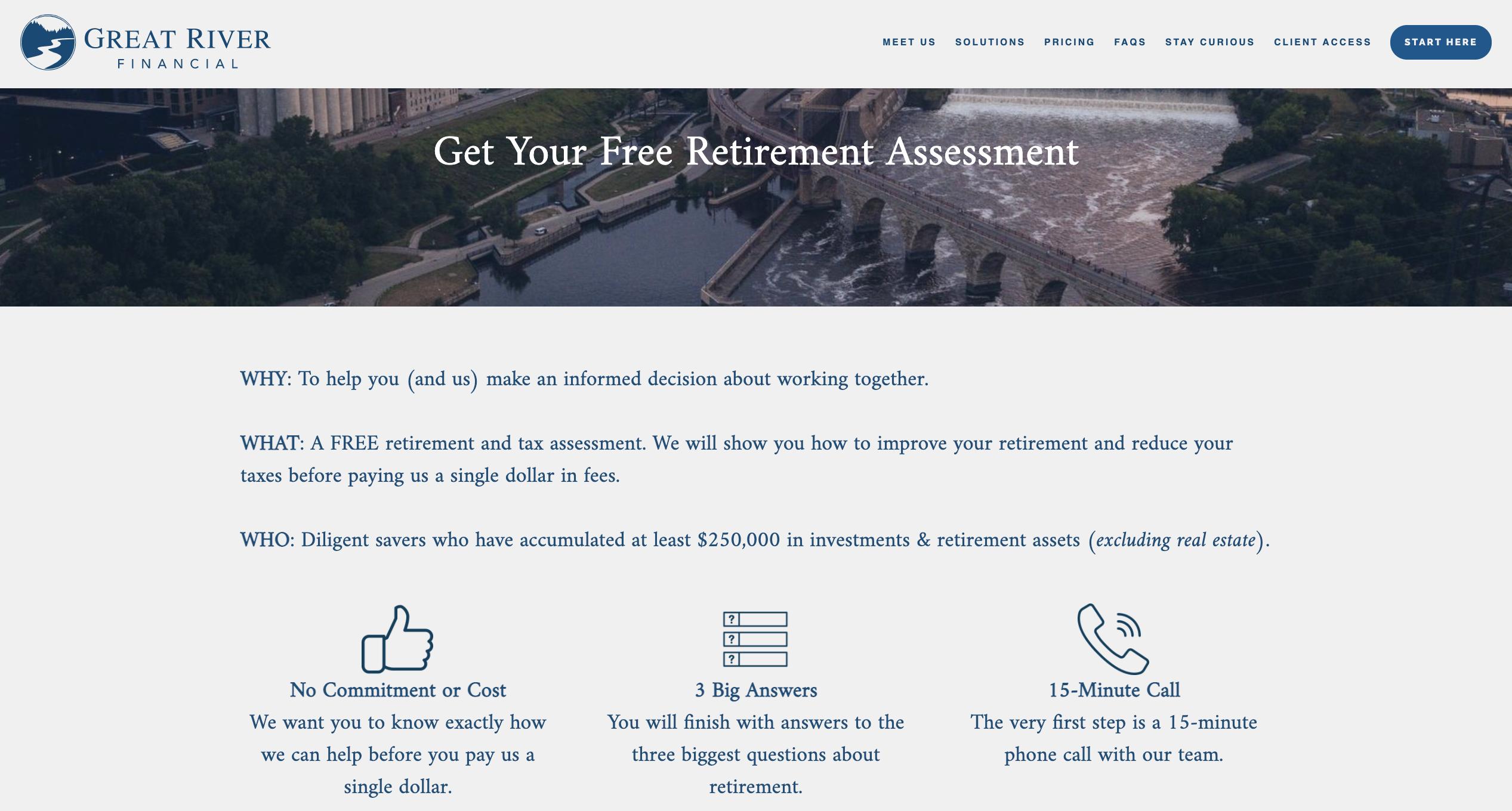 Free Retirement assessment