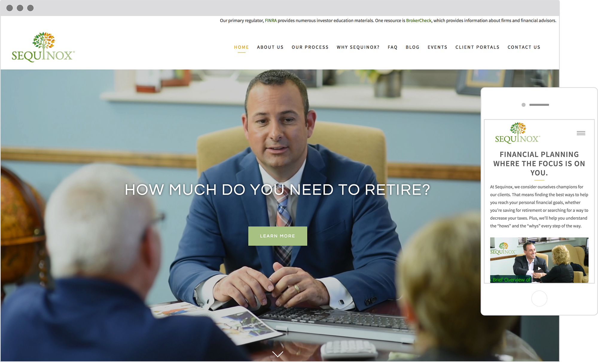 best financial advisor websites: sequinox
