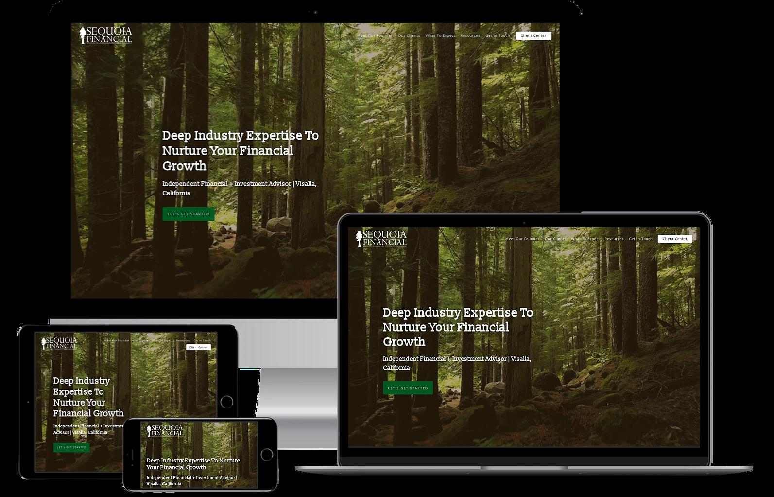 Sequoia Financial best advisor websites built by twenty over ten