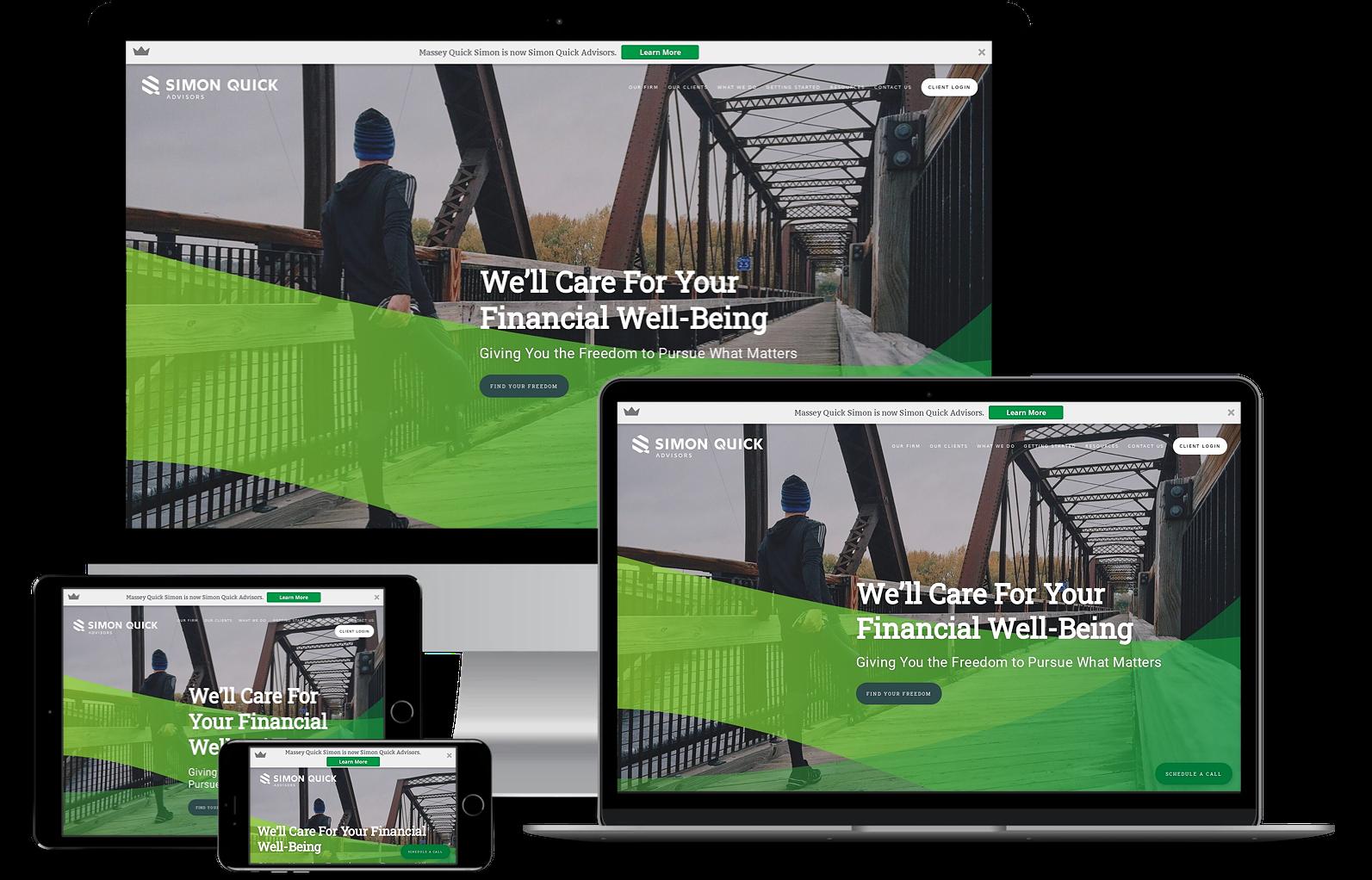 Simon Quick Advisors best financial advisor websites built by twenty over ten