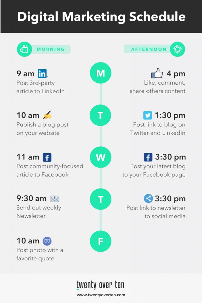 TOT Digital Marketing Schedule