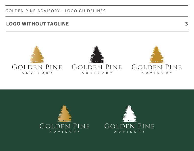 Logo Design for financial advisors, Twenty Over Ten and Golden Pine Advisory