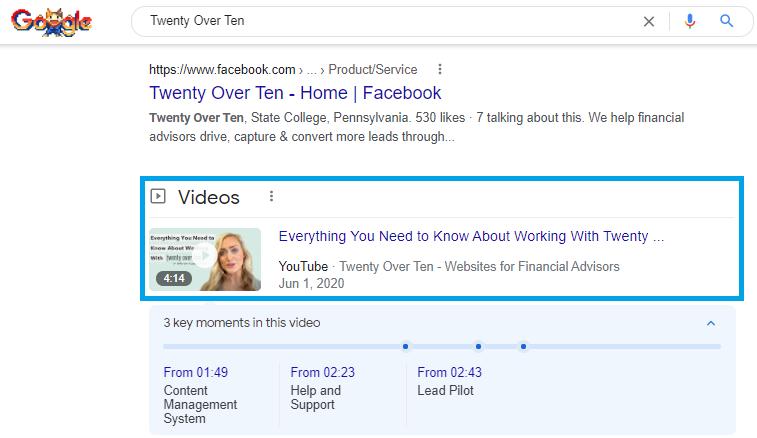Twenty Over Ten Video Search