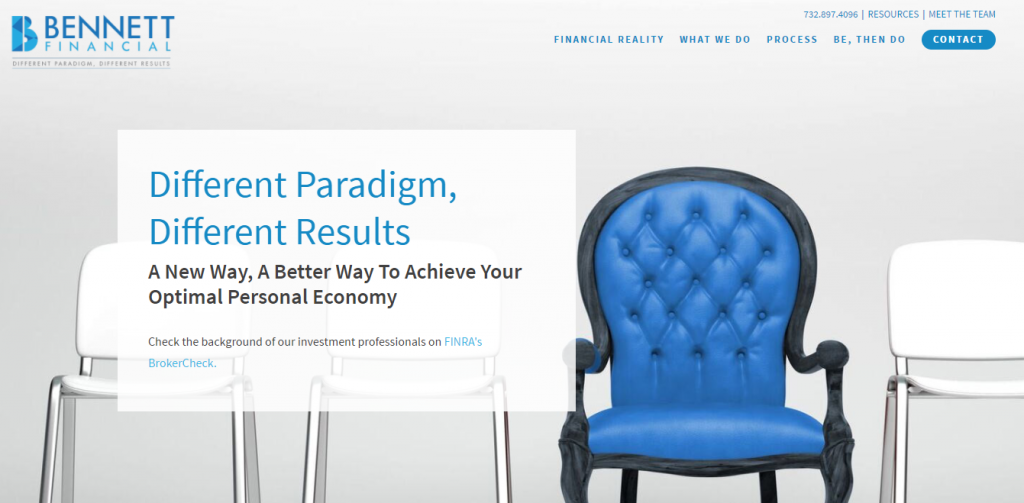 Website branding and design for financial advisors