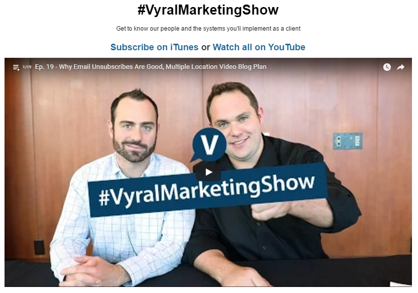 Vyral Marketing showcase
