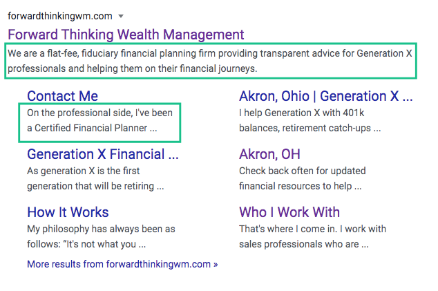 Meta Data forward thinking wealth management