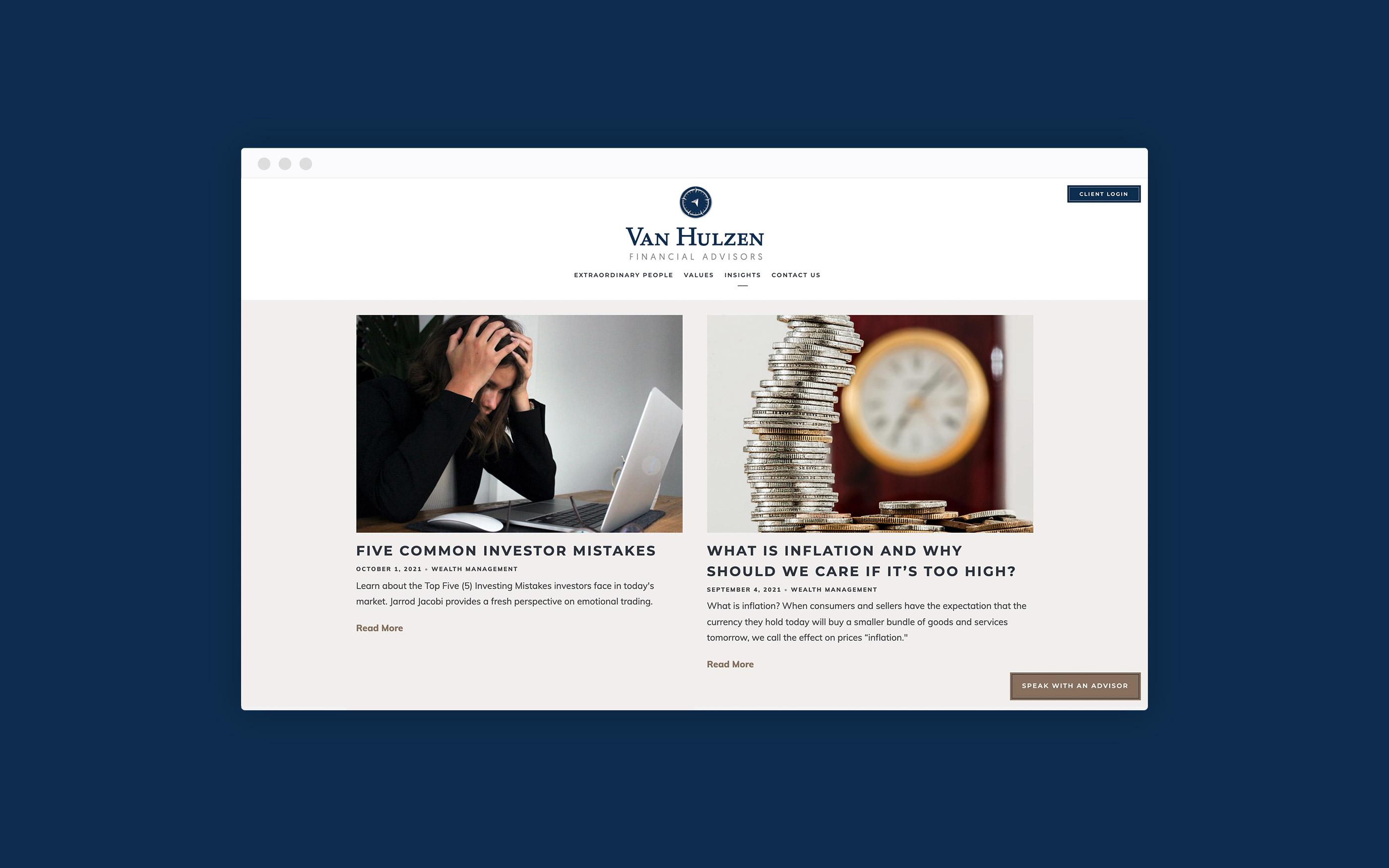 Van Hulzen an active blog