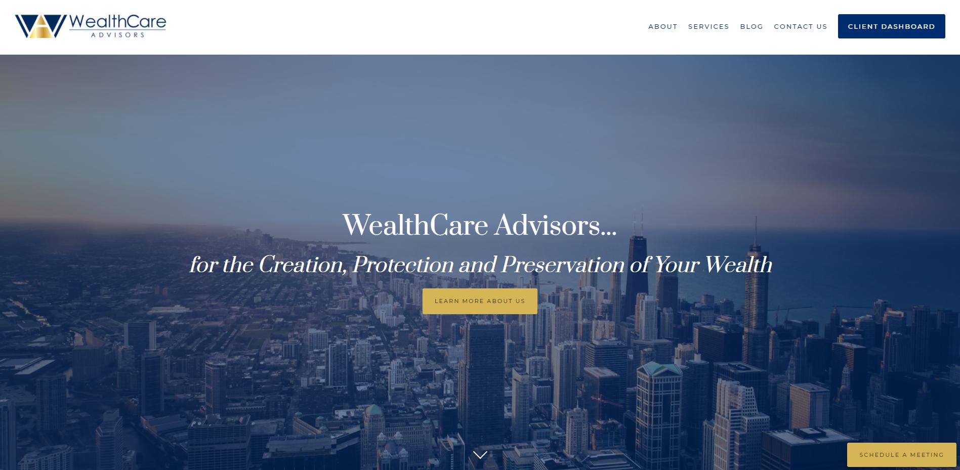 WealthCare Advisors Homepage