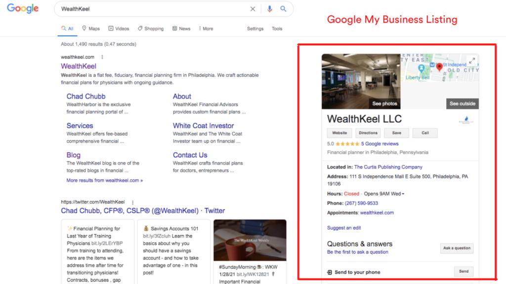 WealthKeel Google My Business