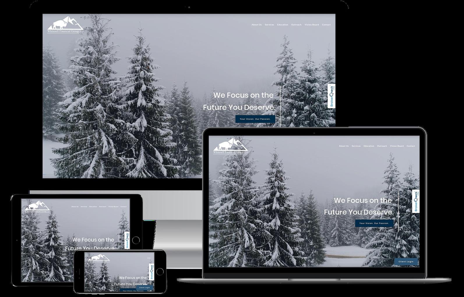 Whitesell Financial Group best financial advisor websites built by twenty over ten