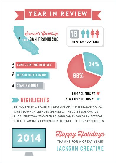 year in review holiday card from Jackson creative