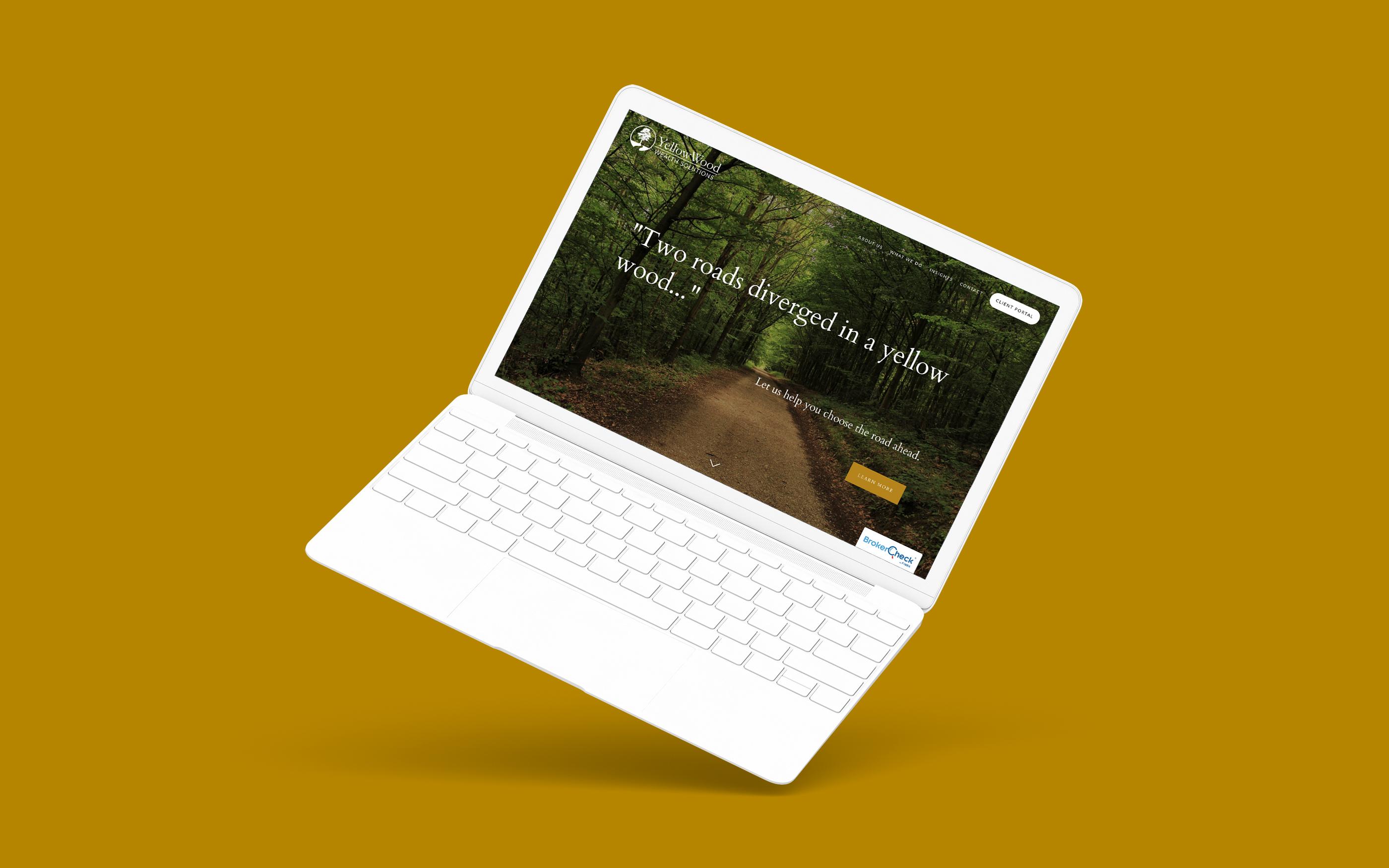 yellowwood wealth solutions best financial advisor website designed by twenty over ten