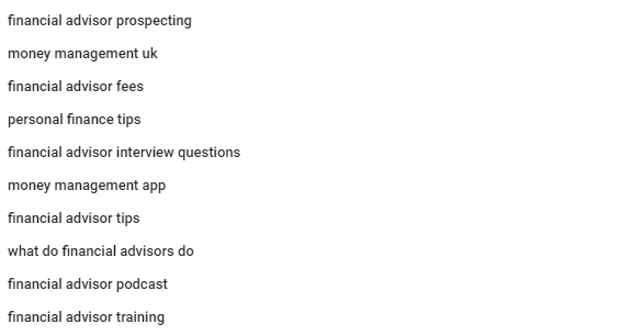 YouTube Recommended Search