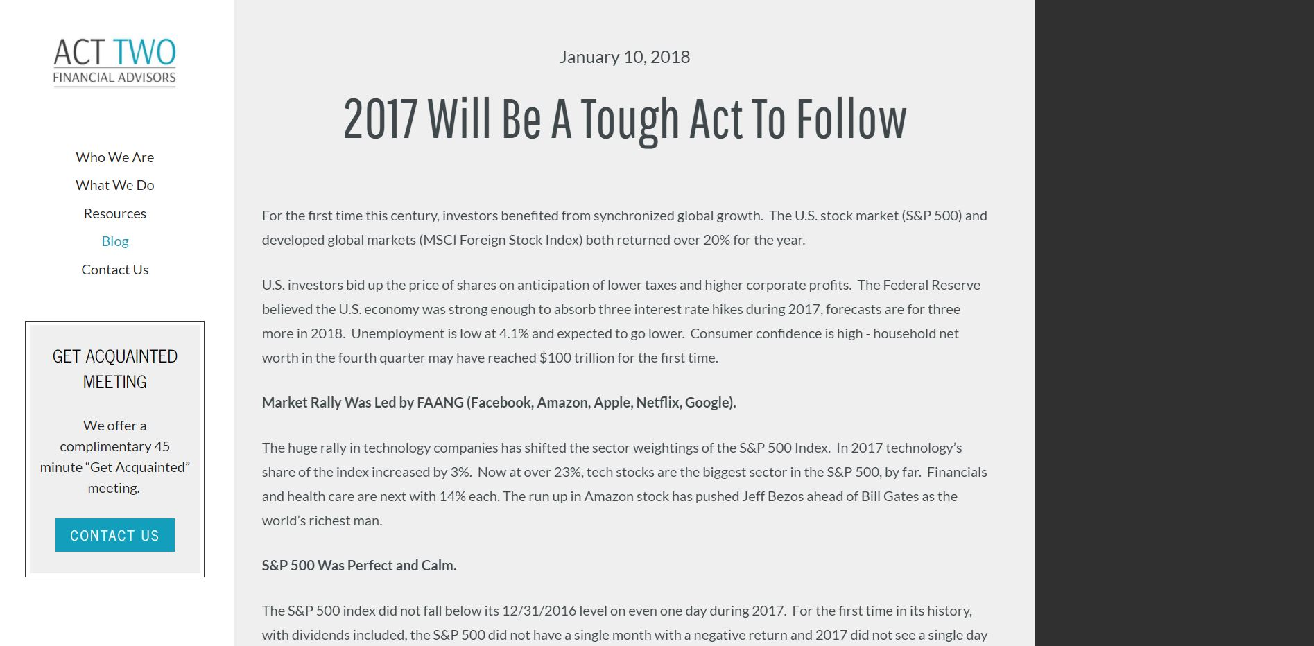act two financial advisors blog