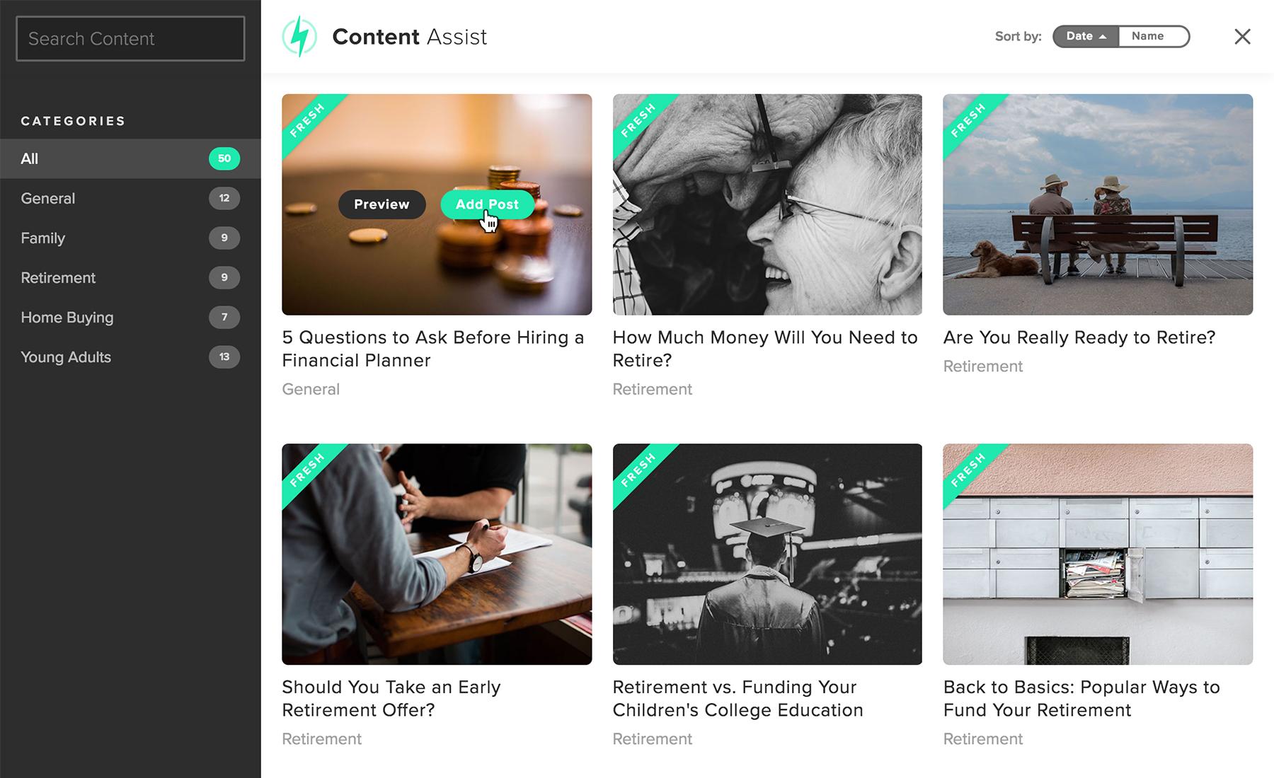 twenty over ten content assist blogging for financial advisors