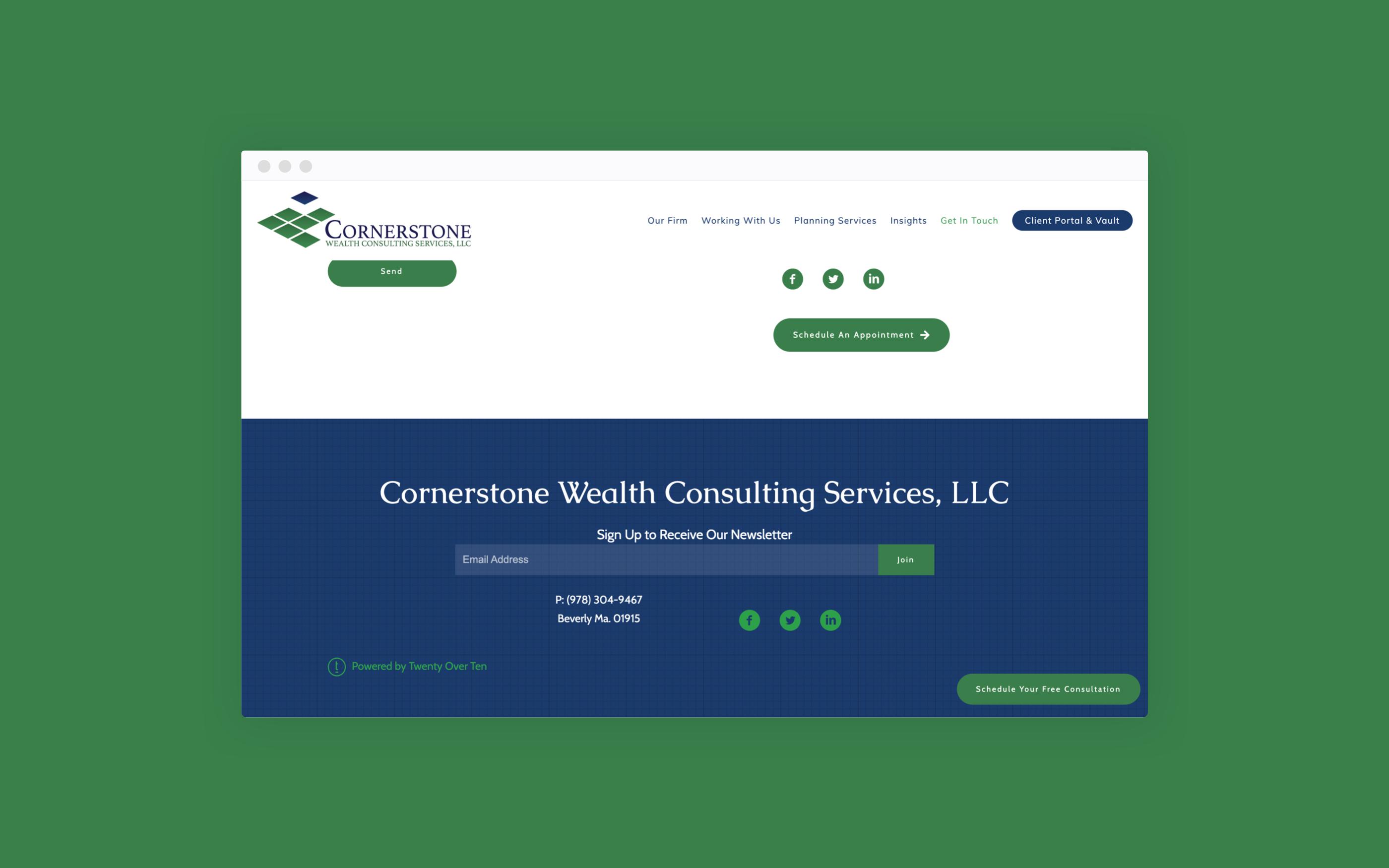 Cornerstone Wealth Services social media