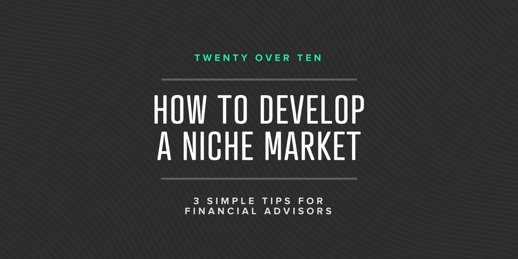 how to develop a niche market