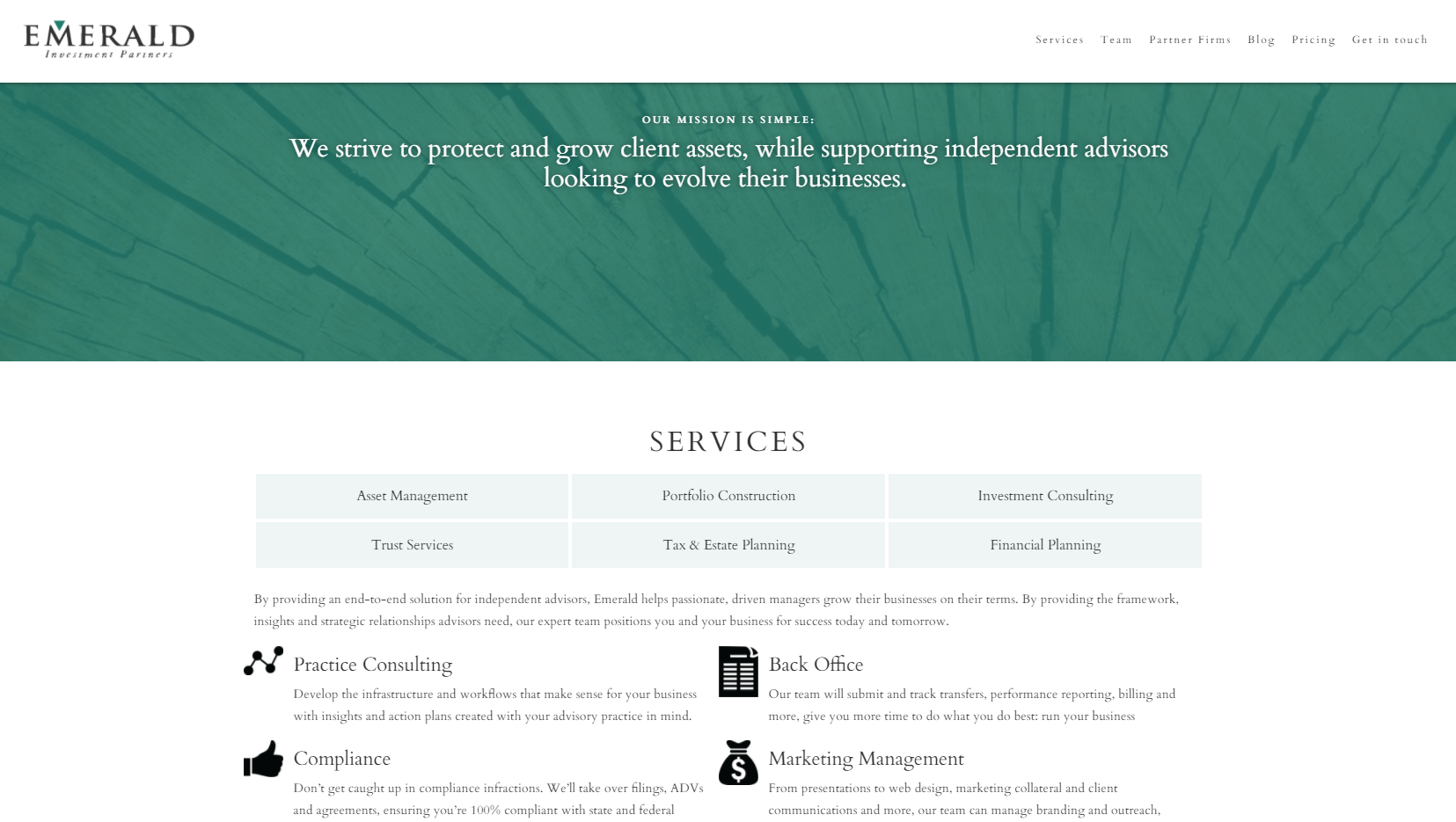 emerald investment partners financial advisor website