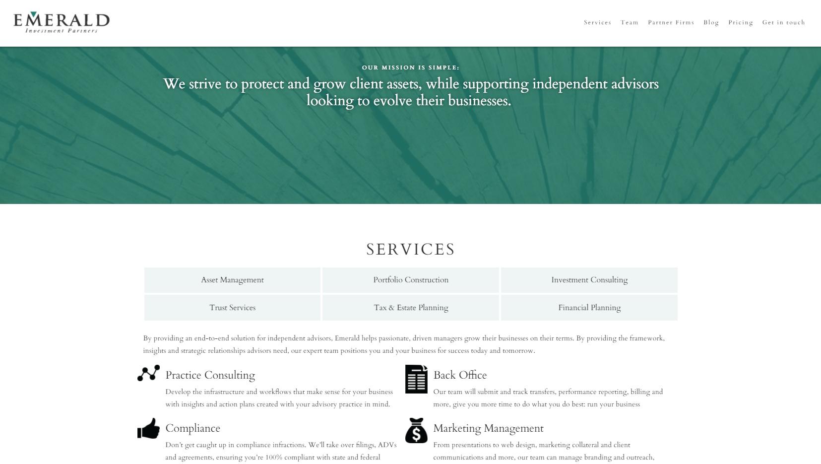emerald investment partners financial advisor website