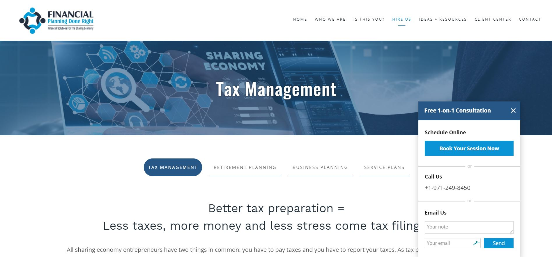 financial planning done right services