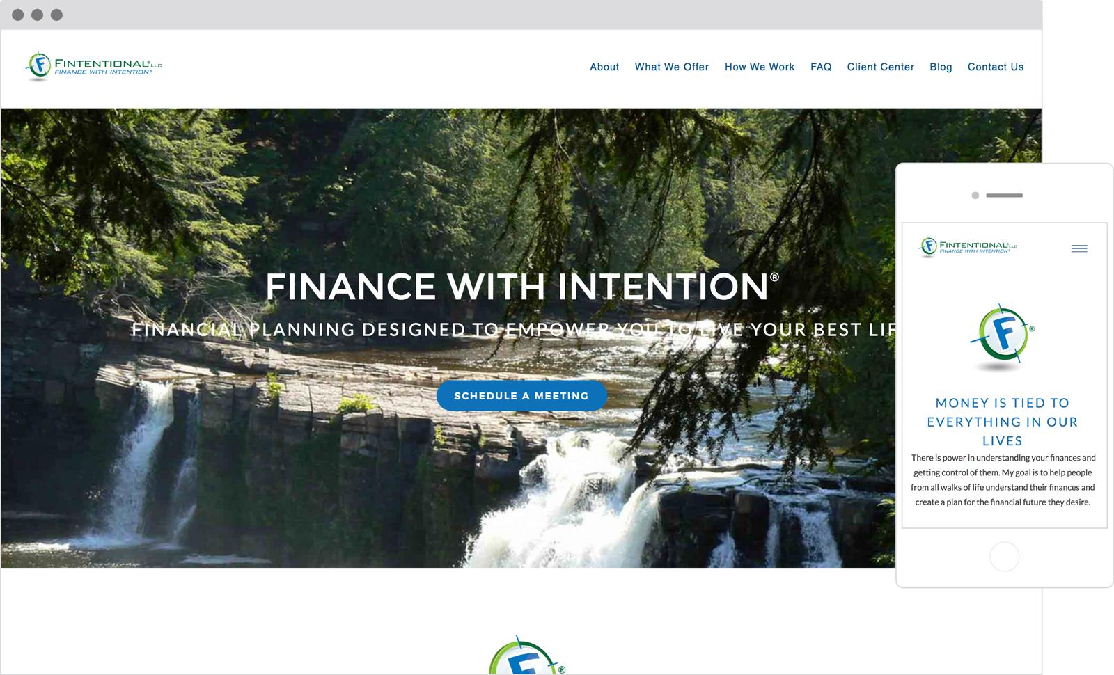 Fintentional- Best Designed Financial Advisor Website