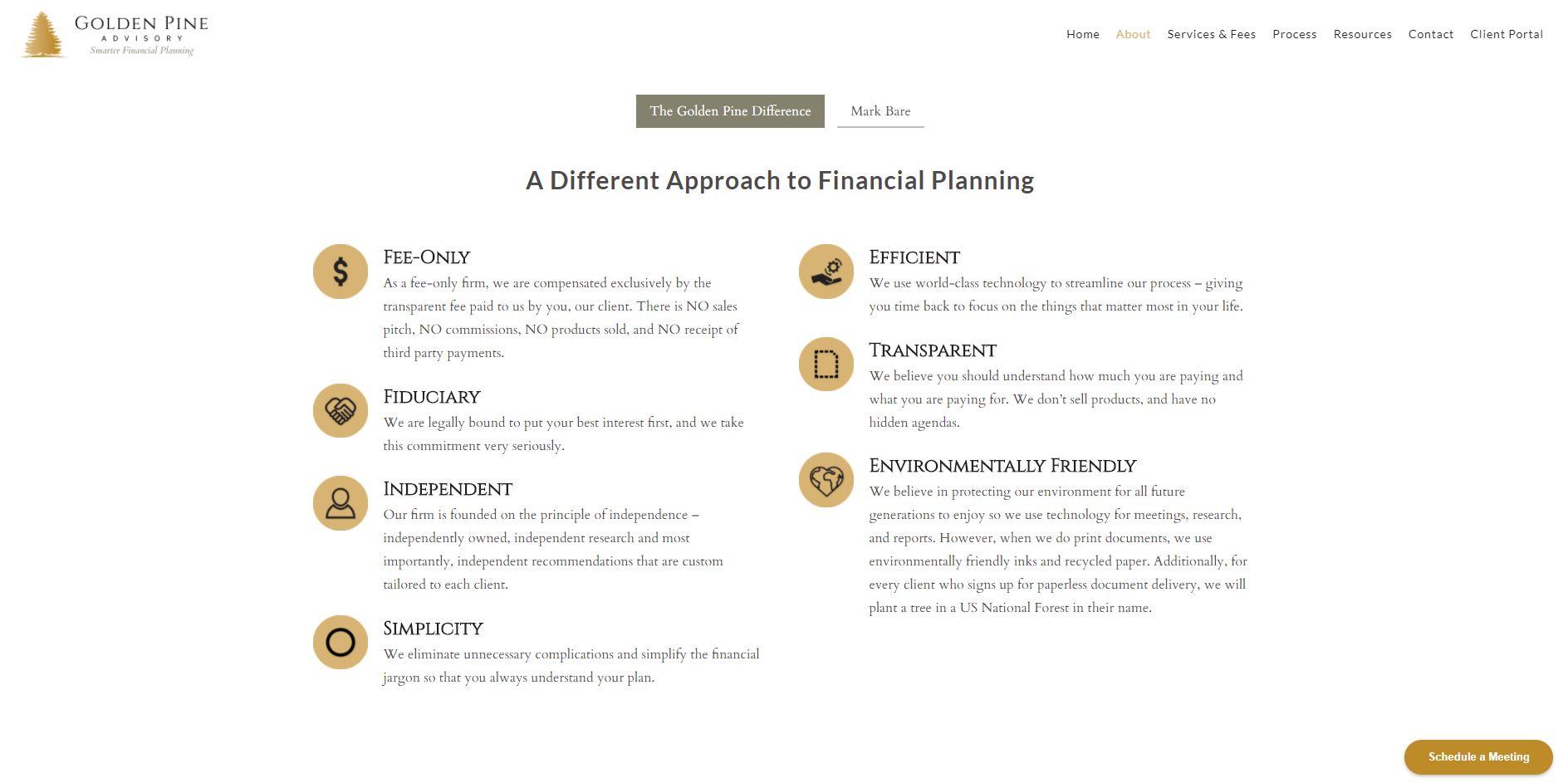 golden pine advisory website