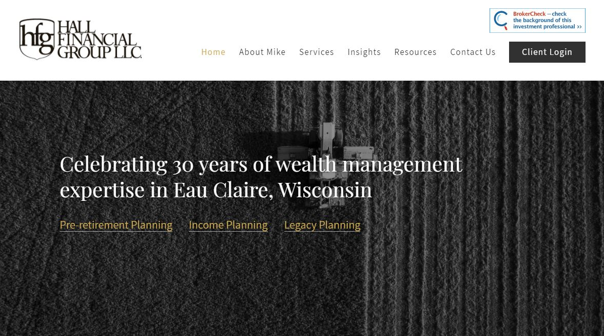 hall financial group advisor website