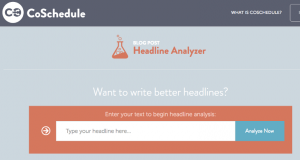 Write a Better Blog Headline with this tool