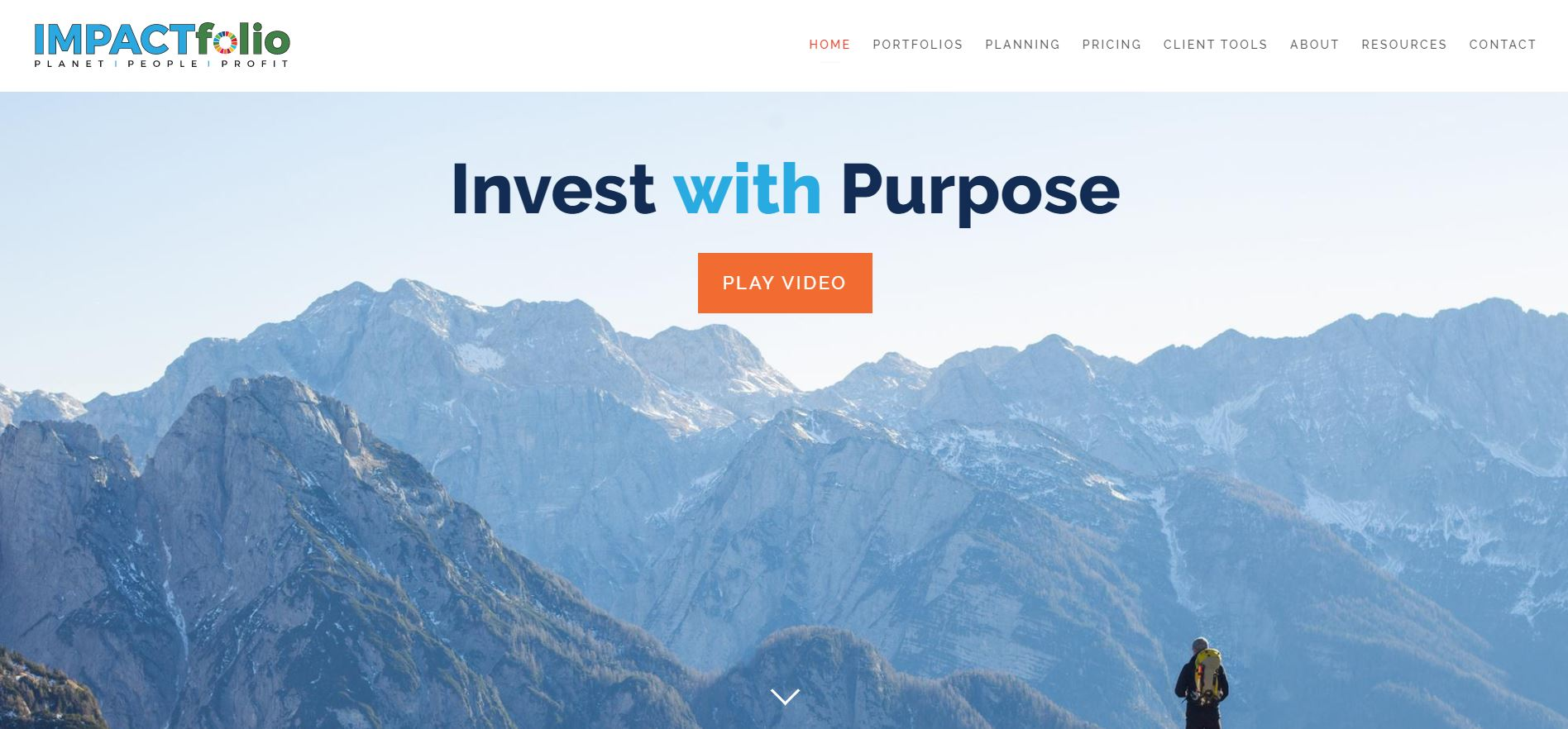 impactfolio website