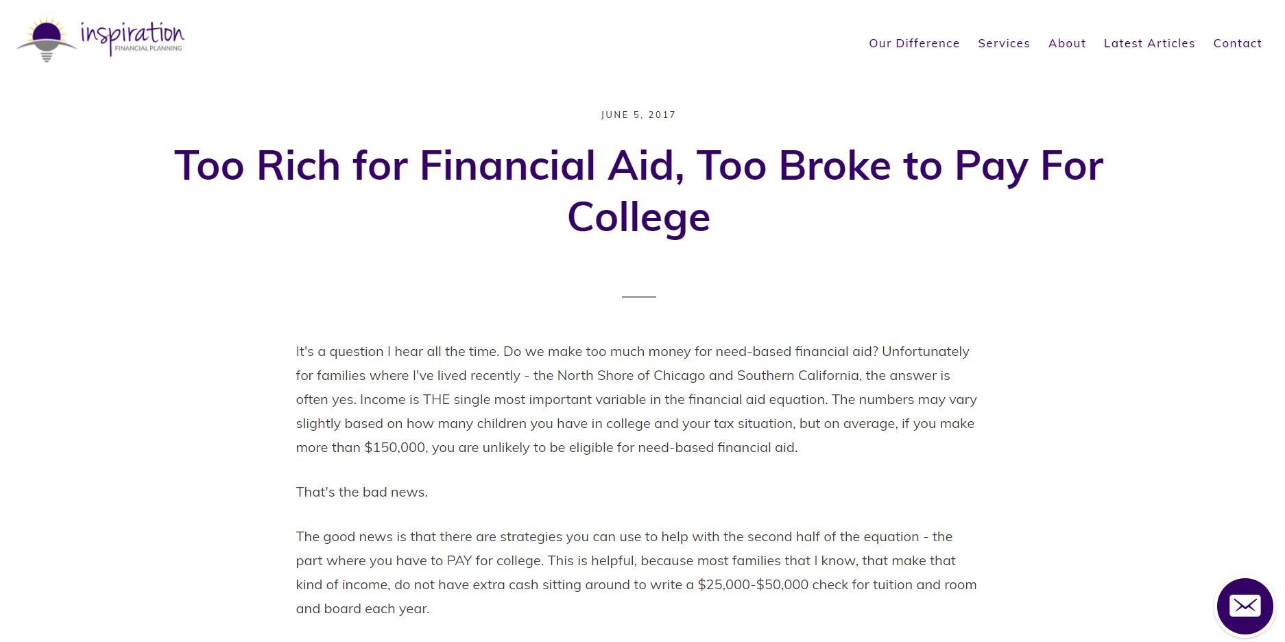 inspirational financial planning blog