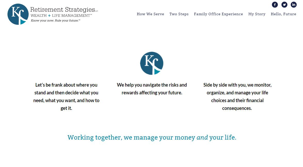 kurt finkbeiner custom advisor website