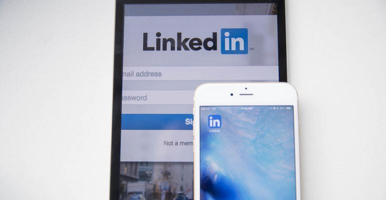 LinkedIn screen