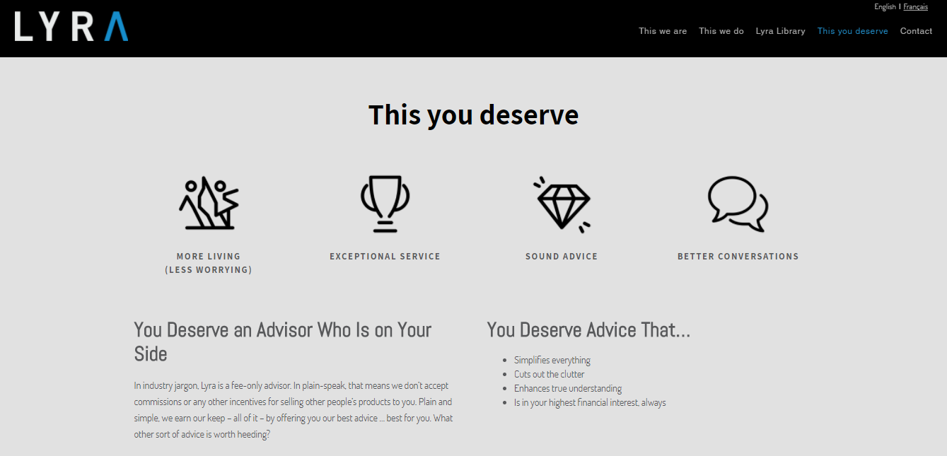 lyra wealth management best advisor websites