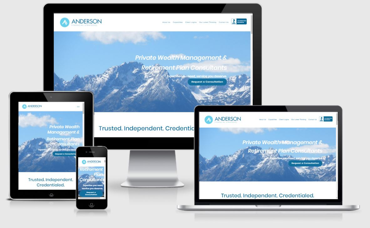 mobile responsive anderson financial strategies website