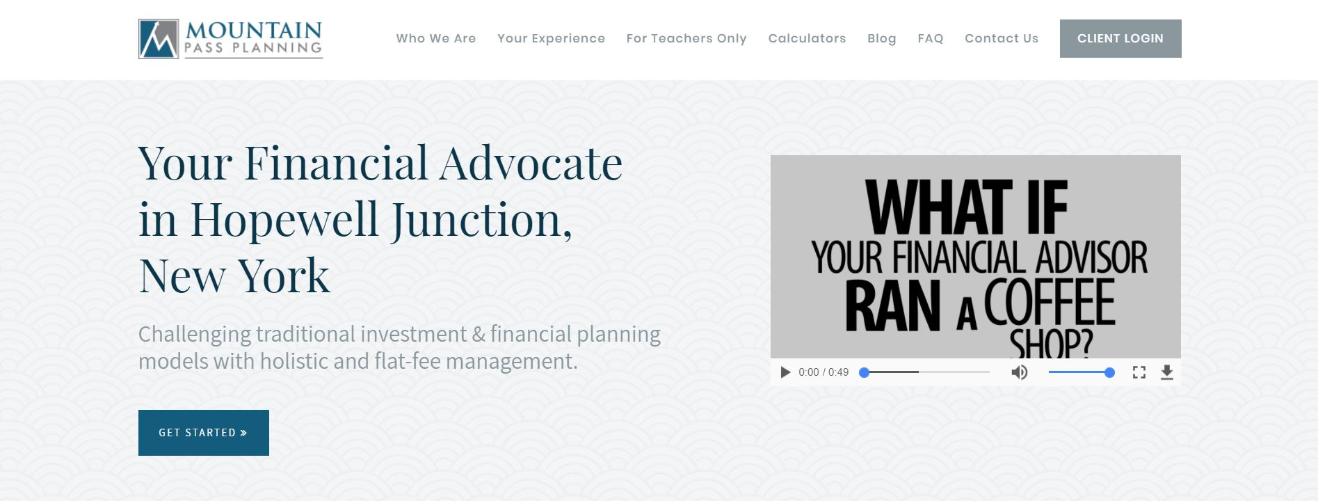 mountain pass planning website