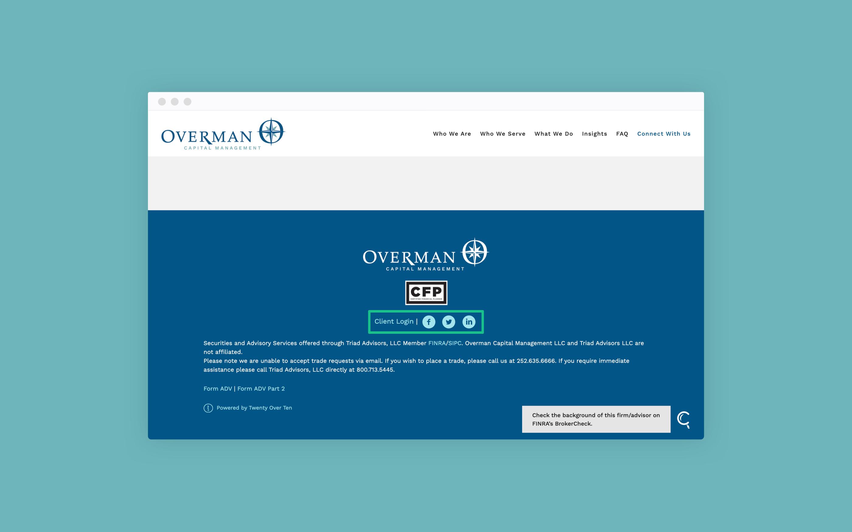 Overman Capital Management social media