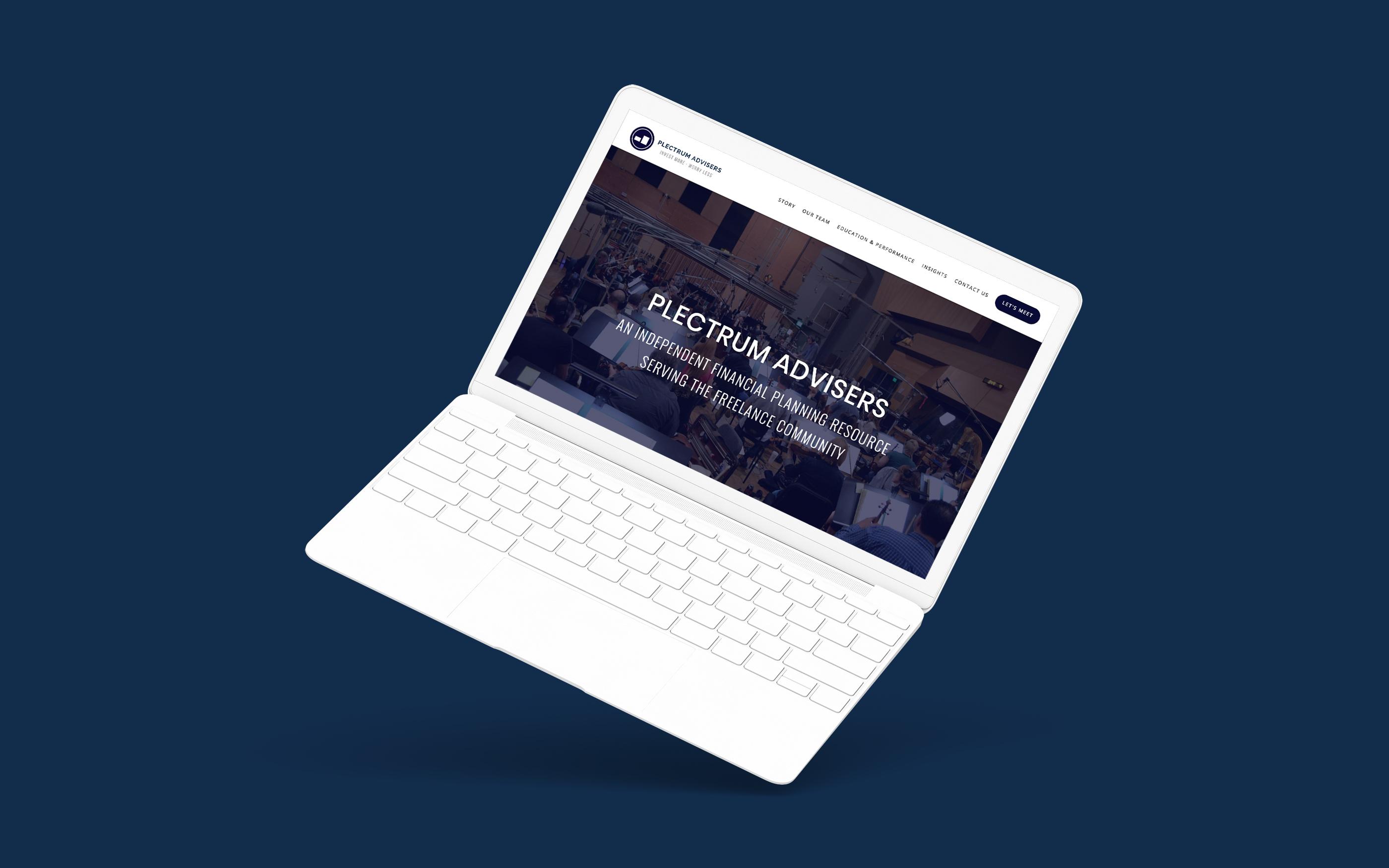 Financial Advisor Website Showcase: Plectrum Advisers