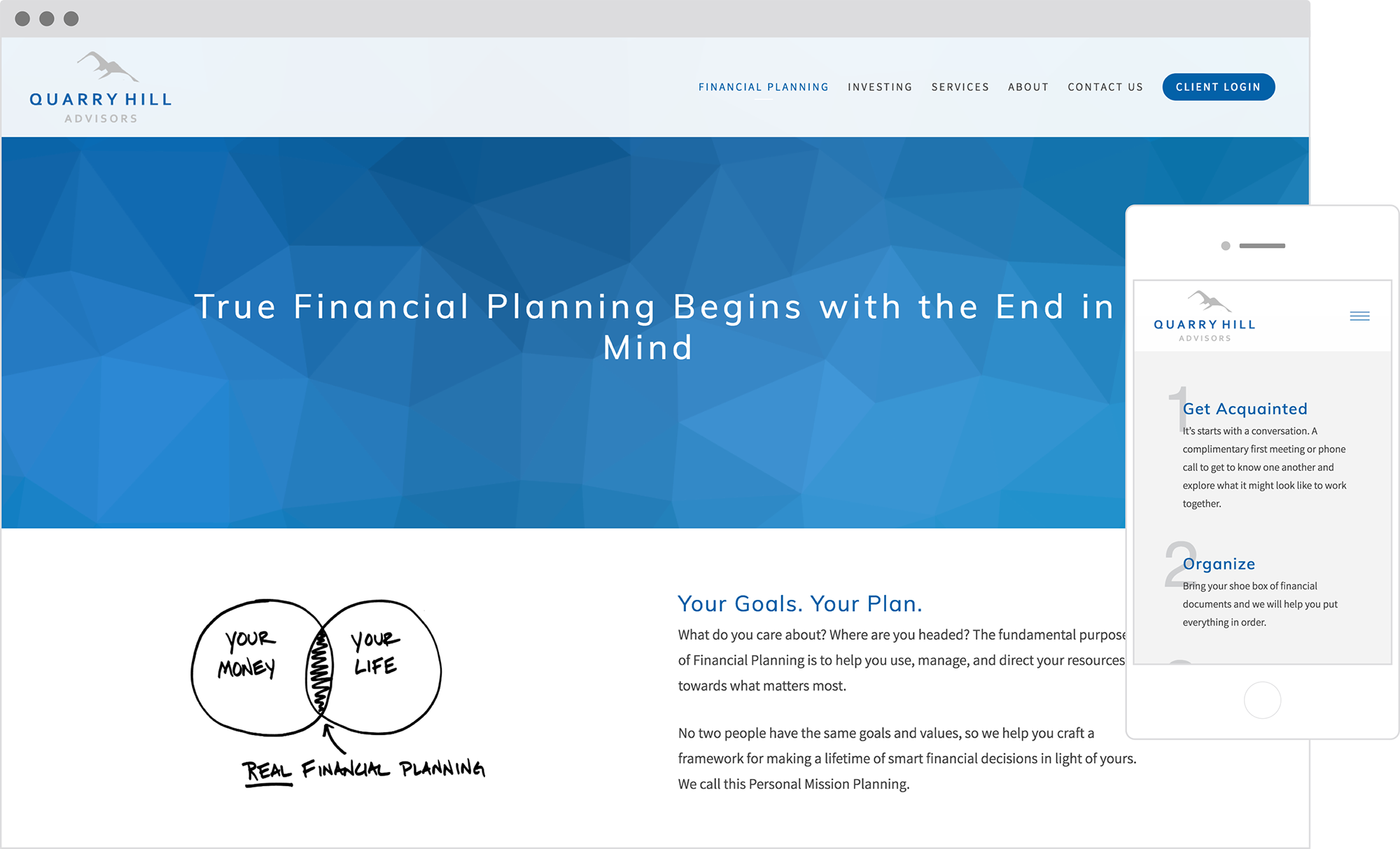 best financial advisor websites: quarry hill advisors