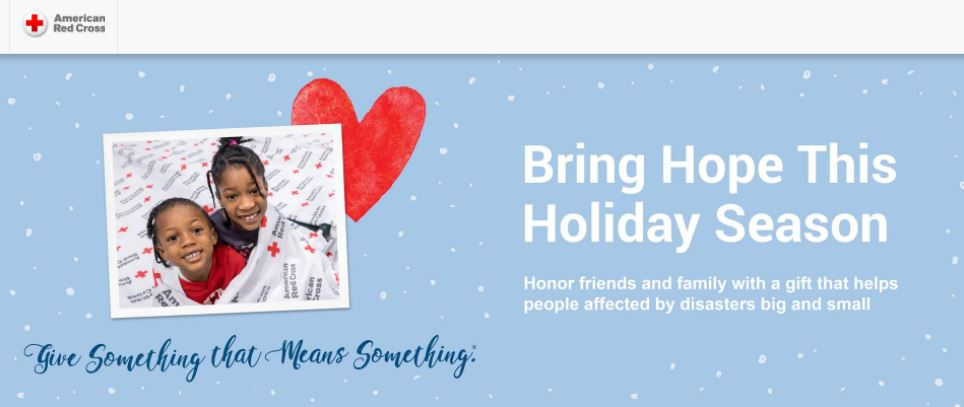 American Red Cross Holiday Donation Campaign